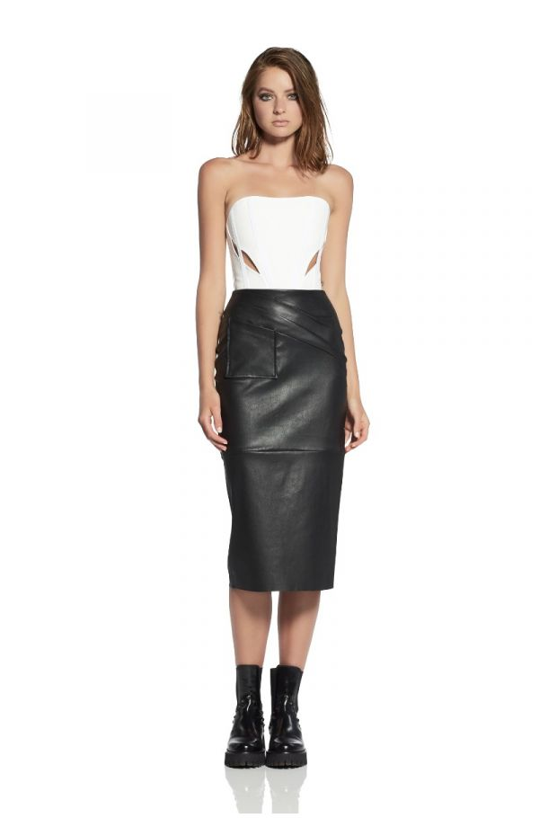 Gracious Leather Pencil Skirt