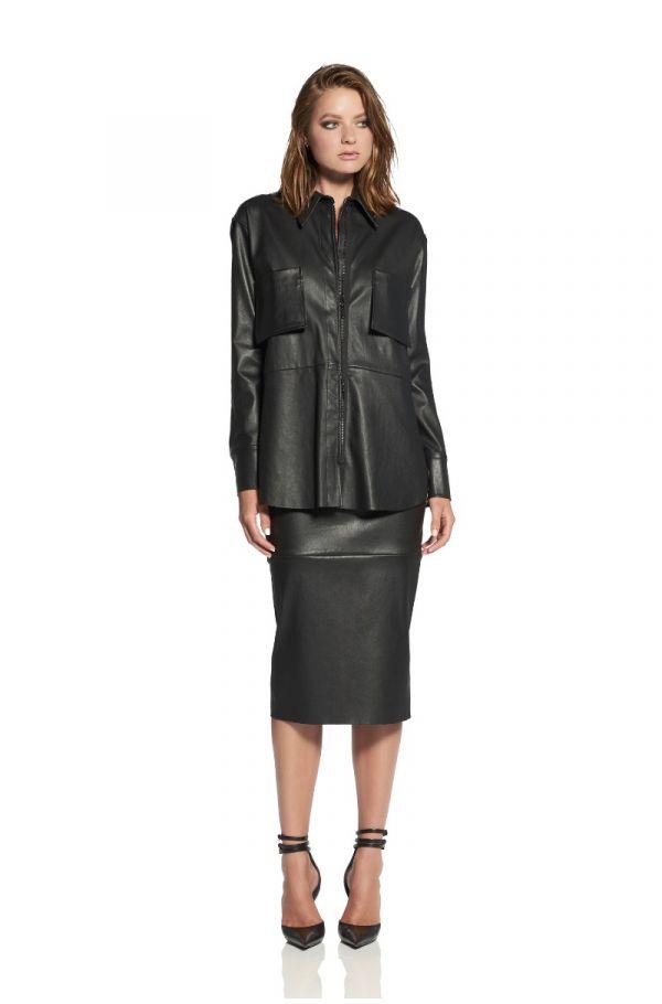 Hepburn Leather Shirt